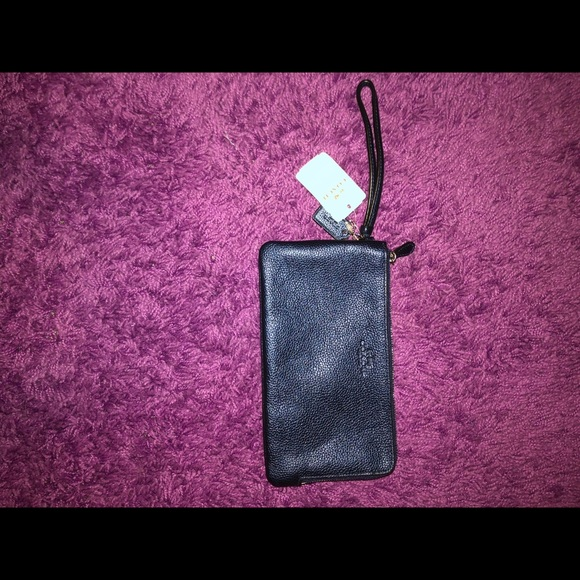 Coach Handbags - Authentic Coach Zip-Around Wallet - Navy Blue